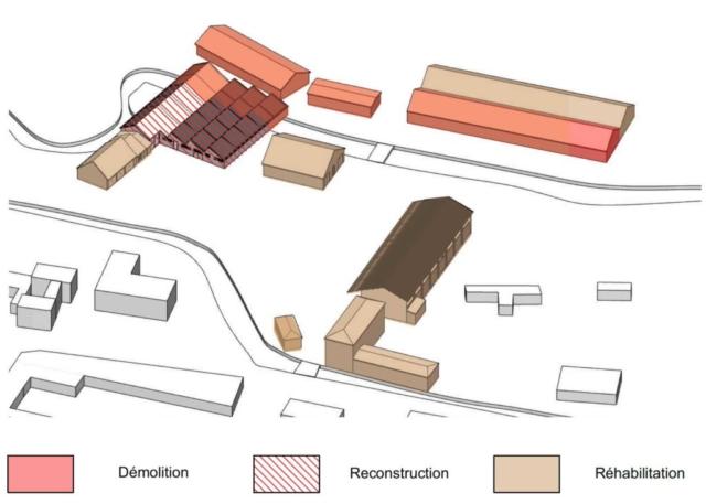 Blangy sur Bresles programmation générale reconversion ancienne verrerie en pole culturel Bancilhon architectes