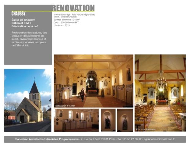 Présentation rénovation église de Chaussy ISMH